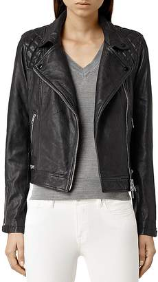 ALLSAINTS Conroy Quilted Leather Biker Jacket $650 thestylecure.com