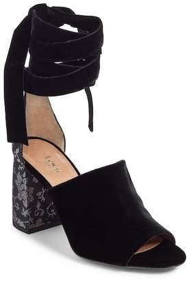 Liliana Lewit Ankle Wrap Velvet Sandal