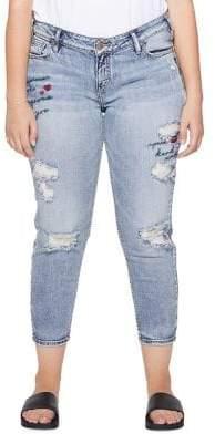 Silver Jeans Elyse Slim-Crop Capri Jeans