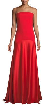 SOLACE London Allesandra Strapless Floor-Length Formal Dress