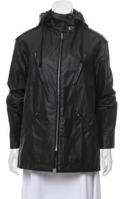 Dries Van Noten Sequin-Accented Hooded Jacket Black Sequin-Accented Hooded Jacket