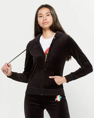 Juicy Couture Rainbow Velour Long Sleeve Hoodie