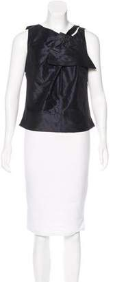 Pauw Silk Bow-Accented Top