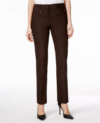 JM Collection Petite Slim-Leg Pants