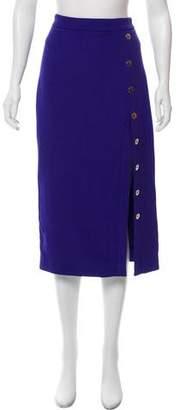 Cushnie et Ochs Slit-Accented Midi Skirt