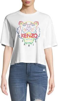 07cc28be1b31e Kenzo Tiger Logo Cropped Graphic Tee