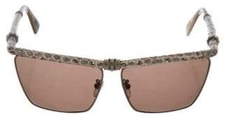 Lanvin Embellished Snakeskin Sunglasses