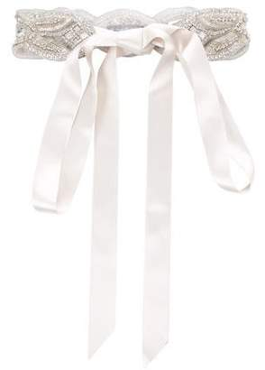 Ossai Bridal Satin Embellished Belt w/ Tags