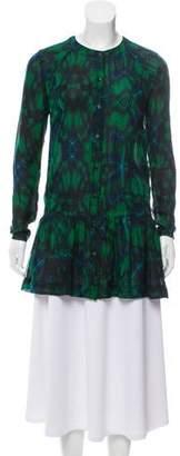 Proenza Schouler Semi-Sheer Printed Tunic