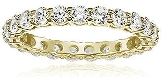 Swarovski La Lumiere Yellow gold-Plated Sterling Silver Zirconia 2 cttw Round All-Around Ring N1/2