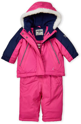 Osh Kosh B'gosh (Infant Girls) Two-Piece Hooded Jacket & Snow Bib Set