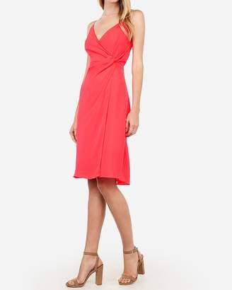 Express Twist Front Midi Cami Dress
