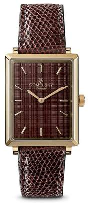 Shinola Gomelsky by Women's Shirley Fromer Genuine Lizard Leather Watch, 32mm