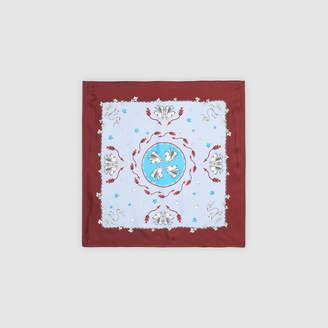 Sandro Silk scarf with Lion print