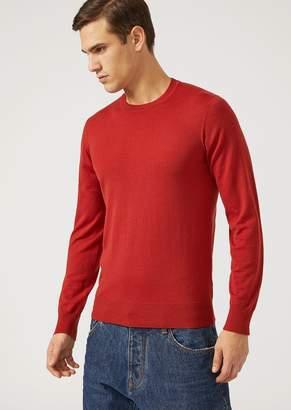 Emporio Armani Crew-Neck Sweater In Virgin Wool