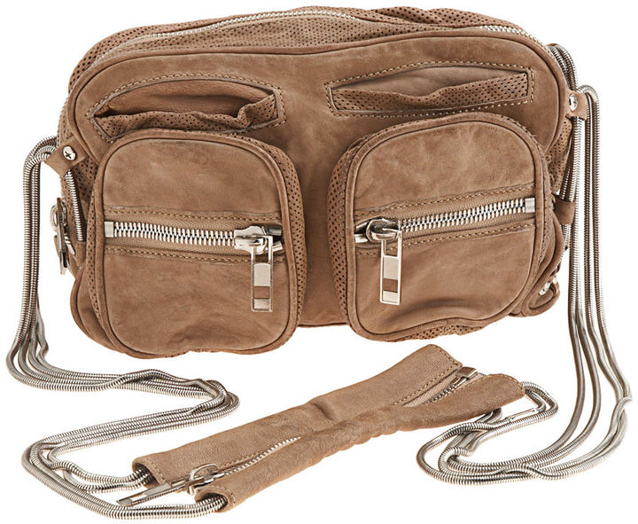 Alexander Wang Brenda Washed Shoulder Bag - Tan