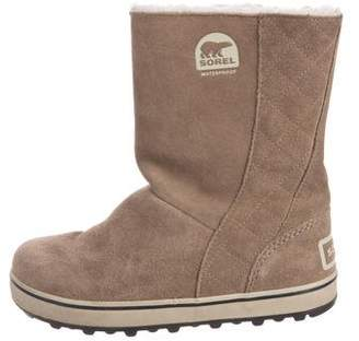 Sorel Glacy Suede Ankle Boots