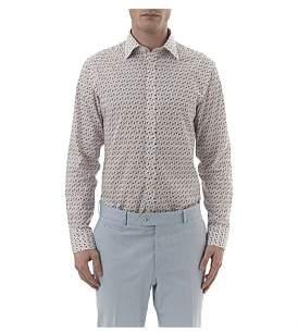 Simon Carter Flamingo Print Single Cuff Shirt