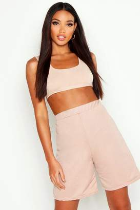boohoo Square Neck Bralet & Lounge Short Co-Ord