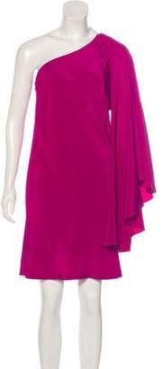 Nicole Miller Silk One-Shoulder Mini Dress