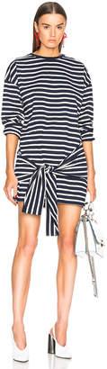 J.W.Anderson Stripe Tie Front T-Shirt Dress