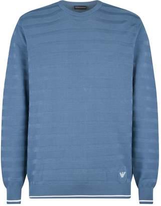 Emporio Armani Textured Stripe Sweater