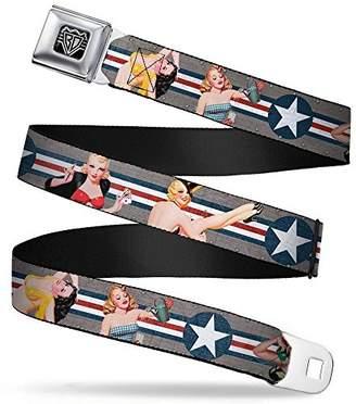 Buckle-Down Unisex-Adult's Seatbelt Belt Pin Up Regular