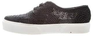 Robert Clergerie Straw Low-Top Sneakers