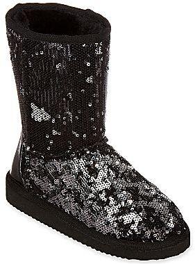 JCPenney Total Girl® Kimarra Girls Faux Sheepskin Sequin Boots