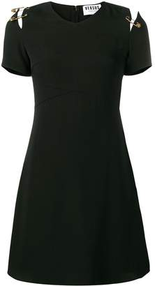 Versus v-neck safety pin dress