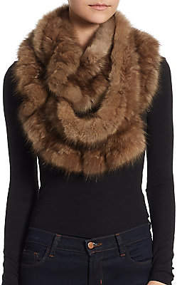 The Fur Salon Women's Sable Fur Infinity Scarf