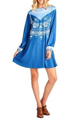 Racine High Neck Print Dress