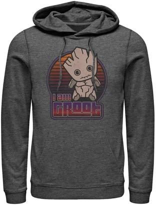 Licensed Character Men's Marvel Groot Kawaii Logo Hoodie