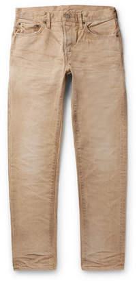 Co Fabric-Brand & Slim-Fit Distressed Denim Jeans