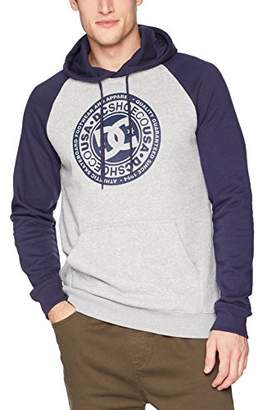 DC Men's Circle Star Pullover Hoodie Raglan Fleece Jacket
