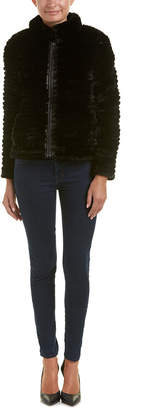 Adrienne Landau Reversible Puffer Or Fur Jacket