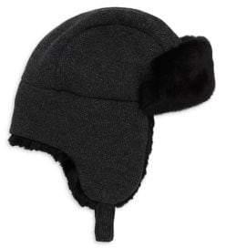 Inverni Matilde Rabbit Fur-Lined Trapper Hat