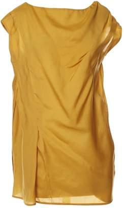 Marni Yellow Silk Tops