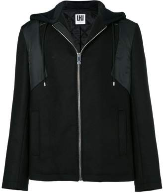 Les Hommes Urban hooded zipped jacket