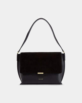 2a0ec77844d4 Ted Baker LOUISSA Leather and suede shoulder bag