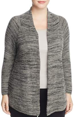 NIC and ZOE Plus Thick and Thin Marled Cardigan