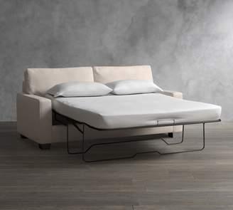 Pottery Barn PB Comfort Square Arm Upholstered Sleeper Sofa With Memory Foam Mattress