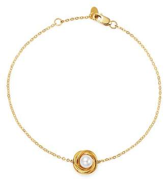 Bloomingdale's Cultured Freshwater Pearl Knot Bracelet in 14K Yellow Gold - 100% Exclusive