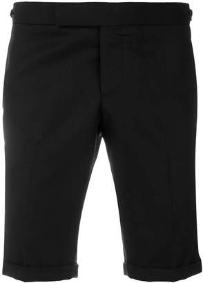 Thom Browne Seamed Elastic Stripe Skinny Wool Shorts