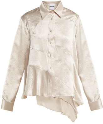 Koché Koche - Asymmetric Panelled Satin Blouse - Womens - Cream