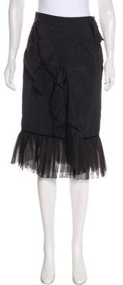 Louis Vuitton Pleated Knee-Length Skirt