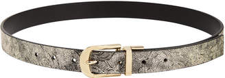INC International Concepts I.N.C. Metallic-Floral & Pop-Color Reversible Belt, Created for Macy's