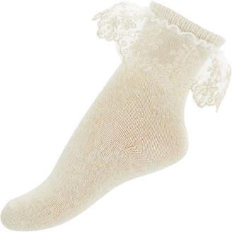 Monsoon Baby Sparkle Flower Lace Socks