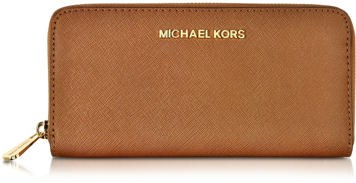 MICHAEL Michael Kors Michael Kors Luggage Jet Set Travel Saffiano Leather Continental Wallet