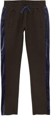 AG Jeans Kinsley Knit Trousers w/ Contrast Sides, Size S-L
